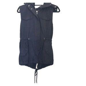 🌵Cargo Vest w/ Fur Hood🌵